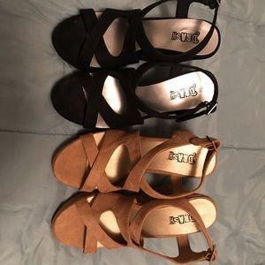 Brash straps Wedge platform sandals